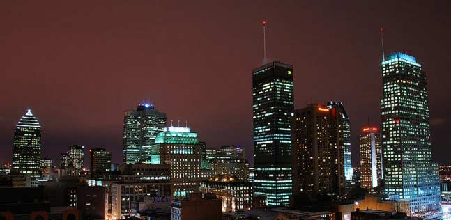 Montreal City scape at night