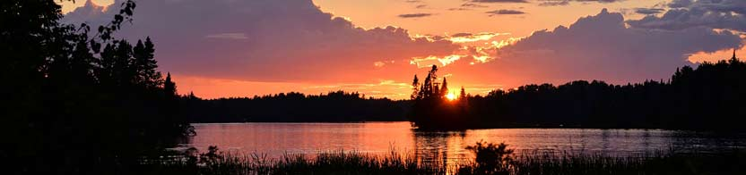 Canadian sunset over a lake