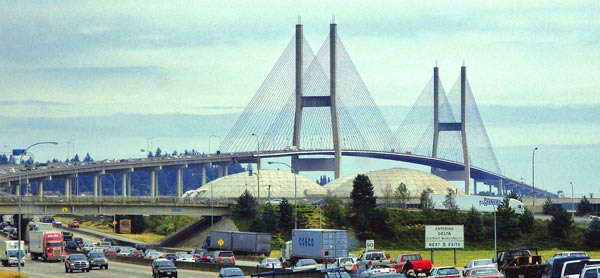 Alex-Fraser Bridge From Delta to New Westminster